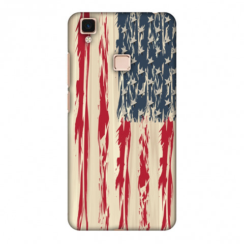 Usa Flag - Paint Splashes Slim Hard Shell Case For Vivo V3 Max