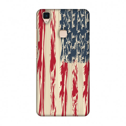 Usa Flag - Paint Splashes Slim Hard Shell Case For Vivo V3