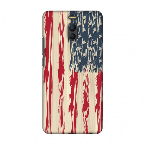 Usa Flag - Paint Splashes Slim Hard Shell Case For Meizu Note 6