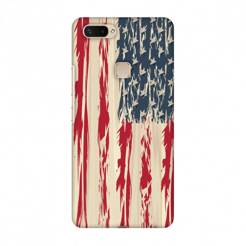 Usa Flag - Paint Splashes Slim Hard Shell Case For Vivo X20 Plus