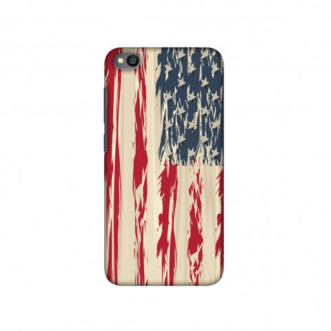 USA flag- Paint splashes Slim Hard Shell Case For Redmi Go