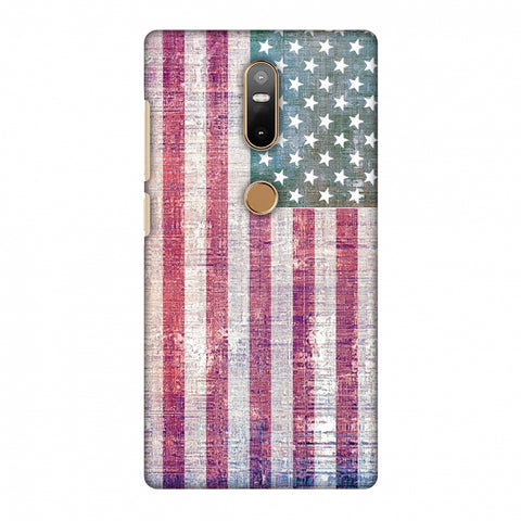 Usa Flag - Wood Texture Slim Hard Shell Case For Lenovo Phab 2 Plus