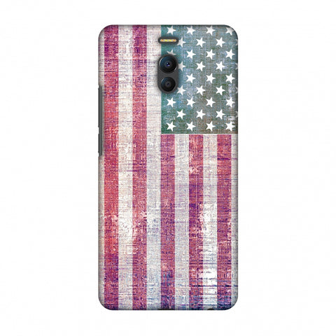 Usa Flag - Wood Texture Slim Hard Shell Case For Meizu Note 6