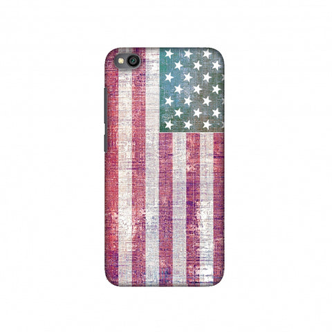 USA flag- Wood texture Slim Hard Shell Case For Redmi Go