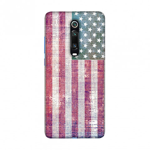 USA flag- Wood texture Slim Hard Shell Case For Redmi K20/K20 Pro