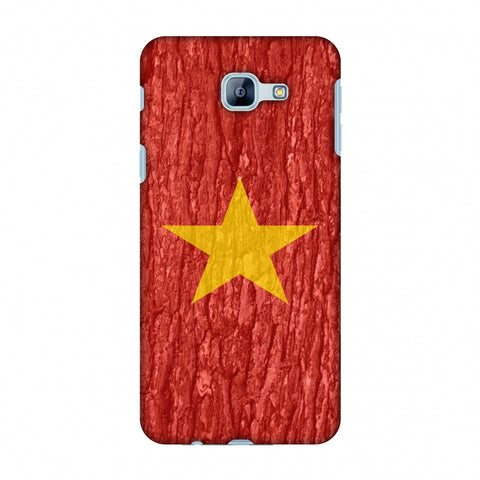 Vietnam Flag - Wood Texture Slim Hard Shell Case For Samsung Galaxy A8 2016