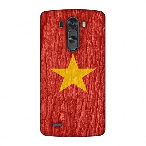 Vietnam Flag - Wood Texture Slim Hard Shell Case For LG G4