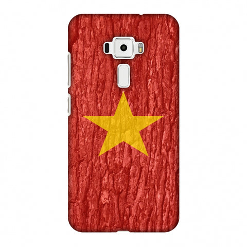 Vietnam Flag - Wood Texture Slim Hard Shell Case For Asus Zenfone 3 ZE520KL