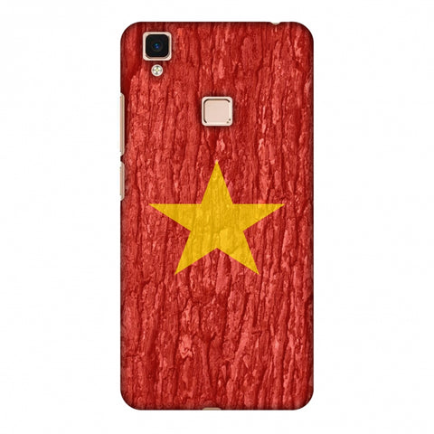 Vietnam Flag - Wood Texture Slim Hard Shell Case For Vivo V3 Max