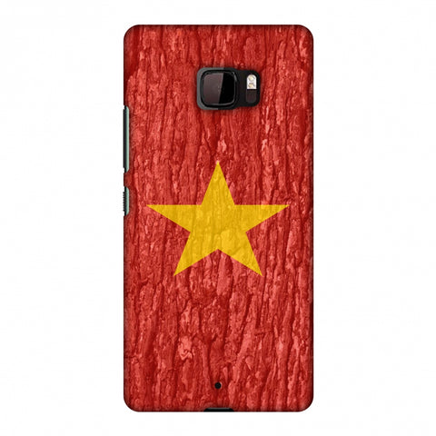 Vietnam Flag - Wood Texture Slim Hard Shell Case For HTC U Ultra