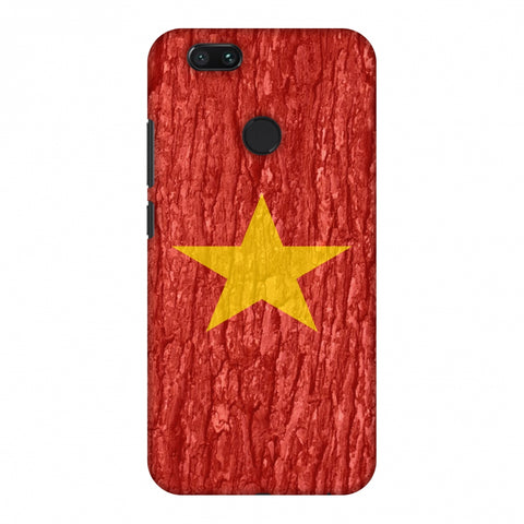 Vietnam Flag - Wood Texture Slim Hard Shell Case For Xiaomi MI A1-5X