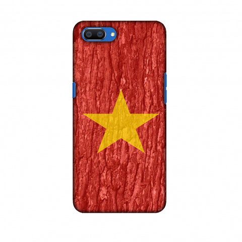 Vietnam Flag - Wood Texture Slim Hard Shell Case For Oppo Realme C1