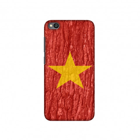 Vietnam flag- Wood texture Slim Hard Shell Case For Redmi Go