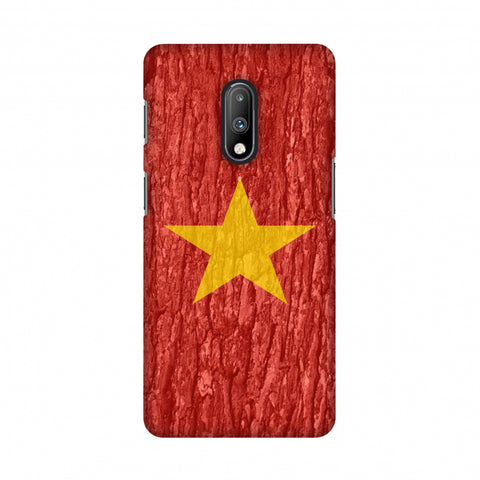 Vietnam flag- Wood texture Slim Hard Shell Case For OnePlus 7