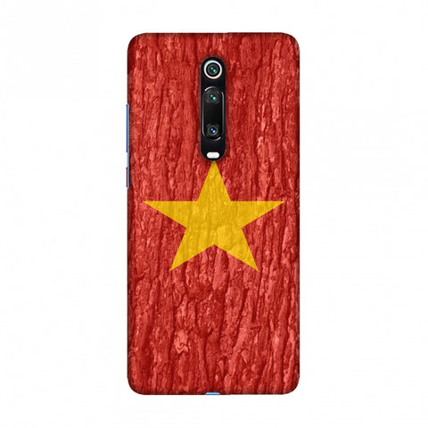 Vietnam flag- Wood texture Slim Hard Shell Case For Redmi K20/K20 Pro