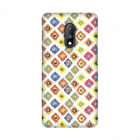 Ikats- Brights Slim Hard Shell Case For OnePlus 7