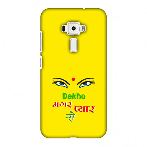 Dekho Magar Pyaar Se - Yellow Slim Hard Shell Case For Asus Zenfone 3 ZE520KL