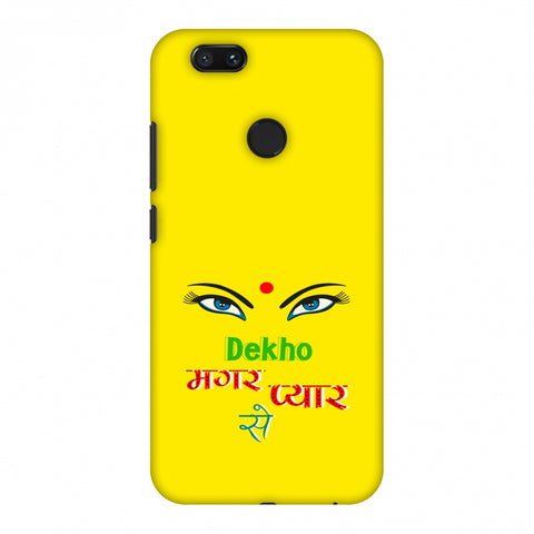 Dekho Magar Pyaar Se - Yellow Slim Hard Shell Case For Xiaomi MI A1-5X