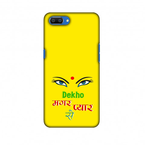 Dekho Magar Pyaar Se - Yellow Slim Hard Shell Case For Oppo Realme C1