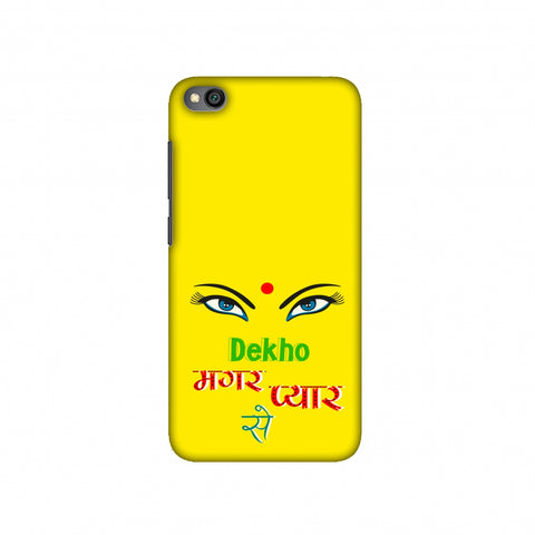Dekho Magar Pyaar Se- Yellow Slim Hard Shell Case For Redmi Go