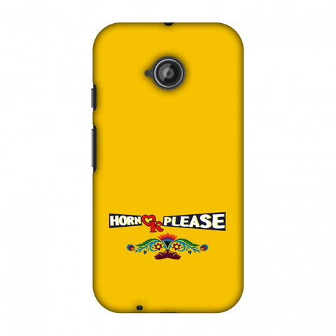 Horn Ok Please - Mustard Slim Hard Shell Case For Motorola Moto E 2nd Gen
