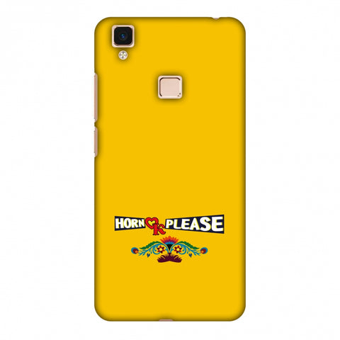 Horn Ok Please - Mustard Slim Hard Shell Case For Vivo V3 Max