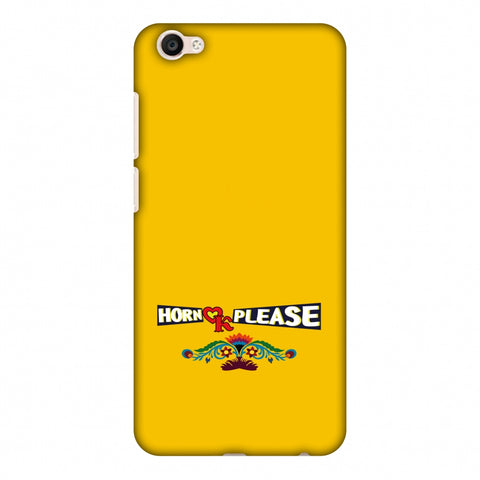Horn Ok Please - Mustard Slim Hard Shell Case For Vivo Y67