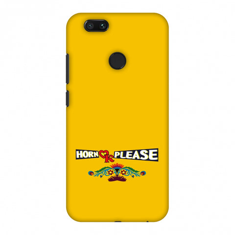 Horn Ok Please - Mustard Slim Hard Shell Case For Xiaomi MI A1-5X