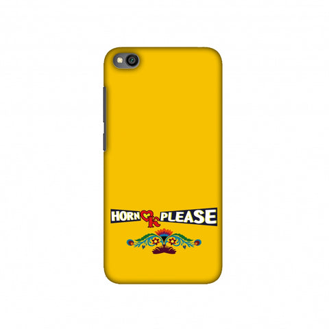 Horn OK Please- Mustard Slim Hard Shell Case For Redmi Go