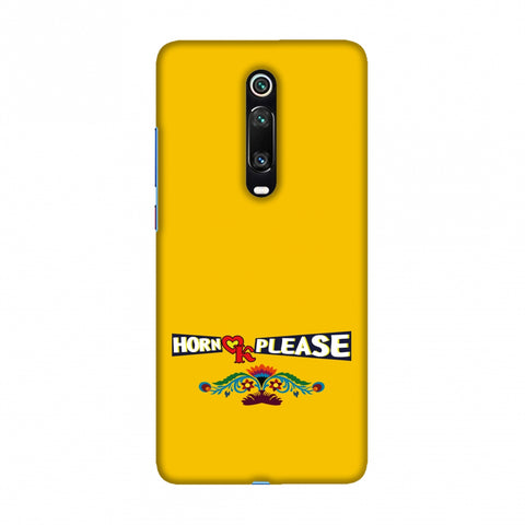 Horn OK Please- Mustard Slim Hard Shell Case For Redmi K20/K20 Pro