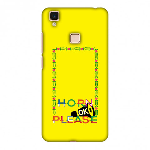 Horn Ok Please Loudspeaker - Yellow Slim Hard Shell Case For Vivo V3 Max