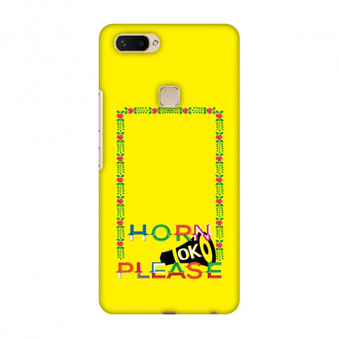 Horn Ok Please Loudspeaker - Yellow Slim Hard Shell Case For Vivo X20 Plus