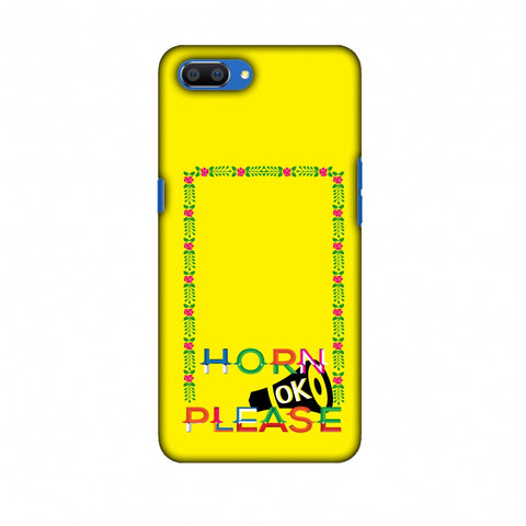 Horn Ok Please Loudspeaker - Yellow Slim Hard Shell Case For Oppo Realme C1