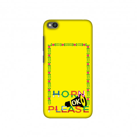 Horn OK Please Loudspeaker- Yellow Slim Hard Shell Case For Redmi Go