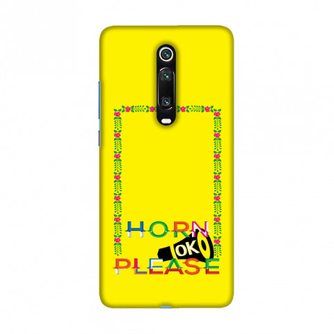 Horn OK Please Loudspeaker- Yellow Slim Hard Shell Case For Redmi K20/K20 Pro