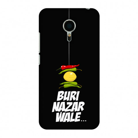 Buri Nazar Wale - Nimbu Mirchi - Black Slim Hard Shell Case For Meizu Mx5
