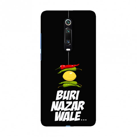 Buri Nazar Wale- Nimbu Mirchi- Black Slim Hard Shell Case For Redmi K20/K20 Pro