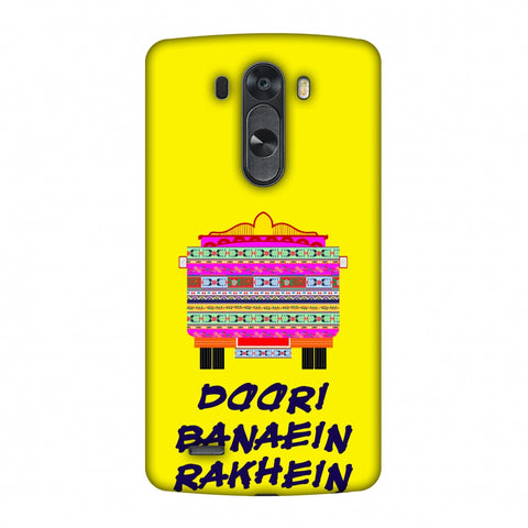 Doori Banaein Rakhein - Yellow Slim Hard Shell Case For LG G4