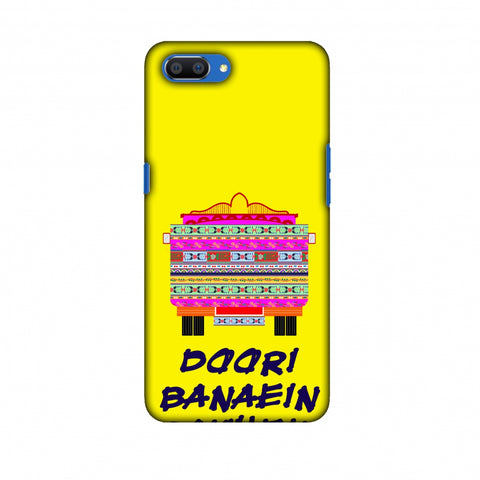 Doori Banaein Rakhein - Yellow Slim Hard Shell Case For Oppo Realme C1