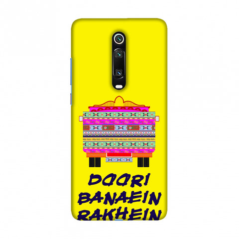 Doori Banaein Rakhein- Yellow Slim Hard Shell Case For Redmi K20/K20 Pro