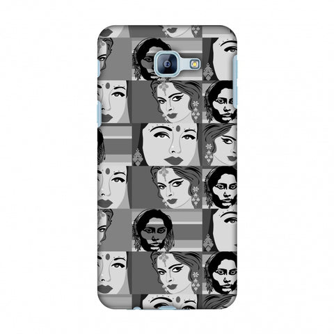 Quirky Bollywood - Monochrome Slim Hard Shell Case For Samsung Galaxy A8 2016