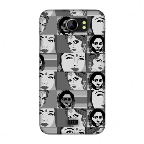 Quirky Bollywood - Monochrome Slim Hard Shell Case For Micromax Canvas 2 A110