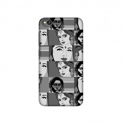 Quirky Bollywood- Monochrome Slim Hard Shell Case For Redmi Go