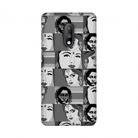 Quirky Bollywood- Monochrome Slim Hard Shell Case For OnePlus 7