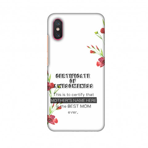 Certificate Of Awesomeness - White Slim Hard Shell Case For Xiaomi Mi 8 Pro