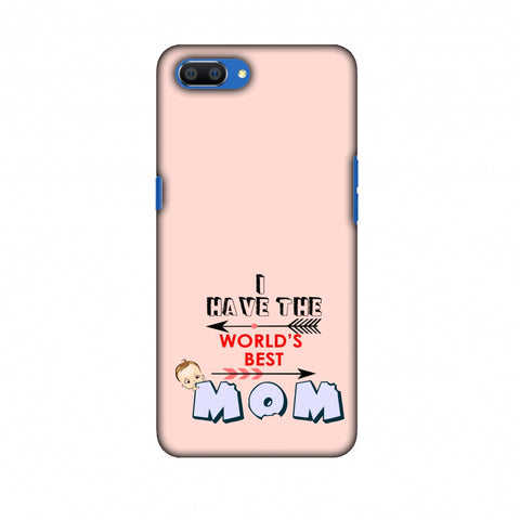 I Have The World's Best Mom - Arrow - Peach Slim Hard Shell Case For Oppo Realme C1