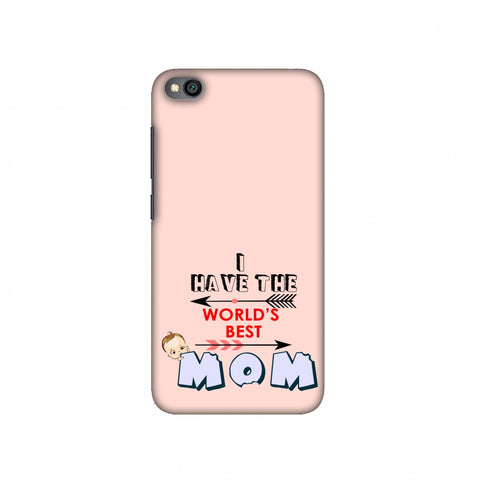 I have the World's Best Mom- Arrow- Peach Slim Hard Shell Case For Redmi Go