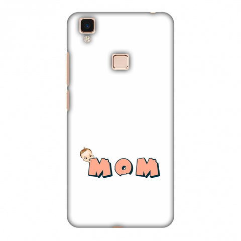 Mom - Beige Slim Hard Shell Case For Vivo V3 Max