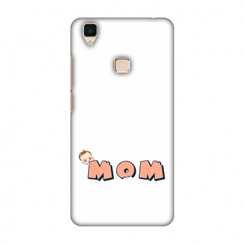 Mom - Beige Slim Hard Shell Case For Vivo V3