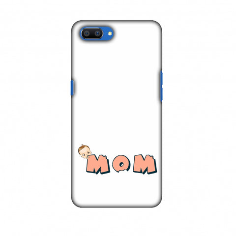 Mom - Beige Slim Hard Shell Case For Oppo Realme C1